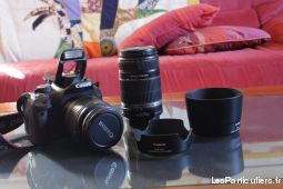 pack canon eos 550d + objectifs 18-55 et 55-250 high tech image son photo camescope hérault