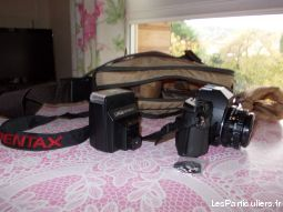 lot appareil photo pentax, flash, sacoche, pellic high tech image son photo camescope oise