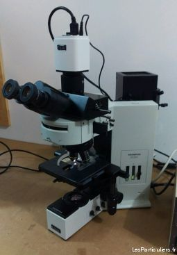 microscope olympus bx60 fluorescence  high tech image son photo camescope seine-saint-denis