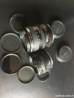optiques canon lens ef - 28mm et 28-105 mm high tech image son photo camescope yvelines