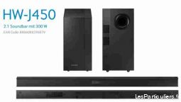 barre de son 2. 1 high tech image son hifi son ardennes
