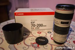 objectif zoom canon 70-200 f4 l usm high tech image son photo camescope bas-rhin