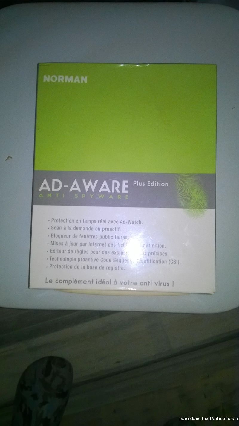 LOGICIEL PC AD AWARE ANTI SPYWARE PLUS EDITION  High Tech Image son Informatique Moselle