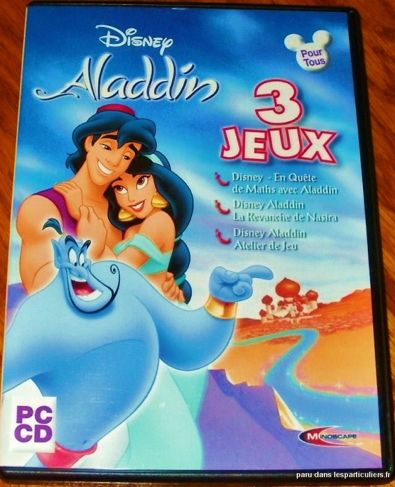 Disney aladdin 3 jeux- 3 cd-rom