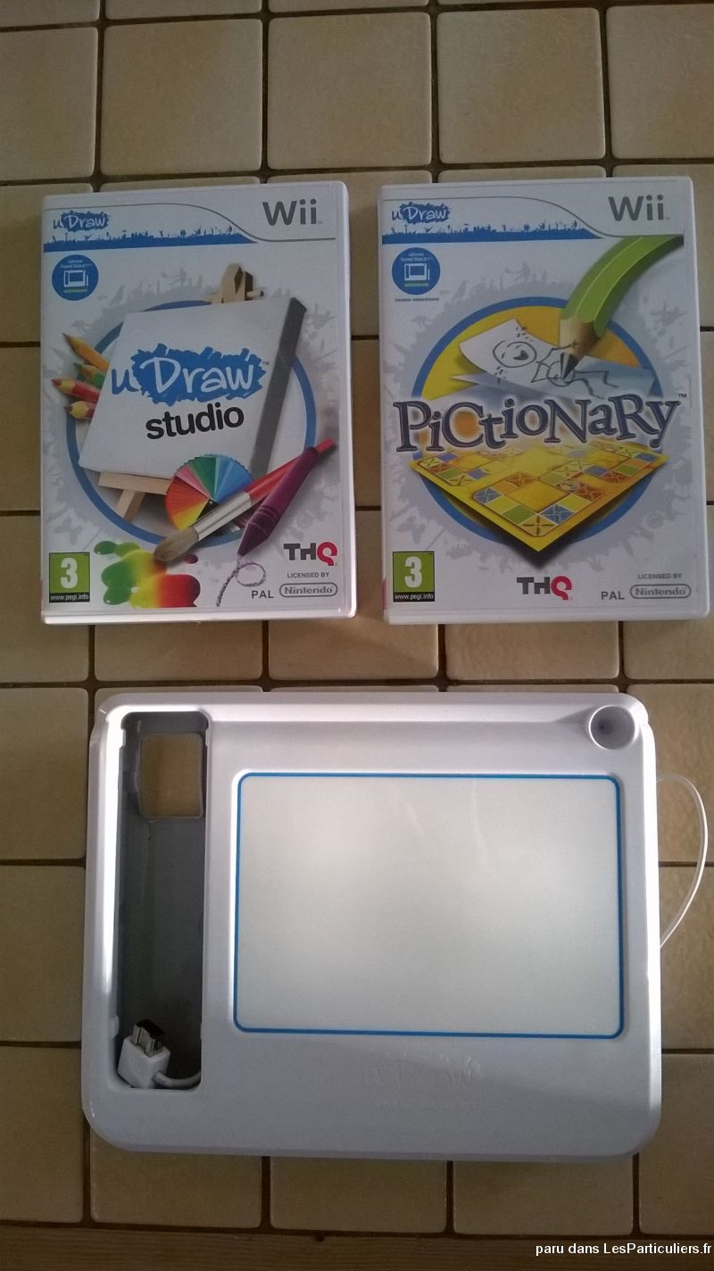 u draw studio + tablette + jeu pictionnary  jeux videos consoles nintendo seine-et-marne