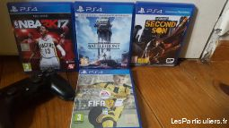 ps4 500gb + fifa17, nba2k17, infamous second son et star wars jeux videos consoles sony paris
