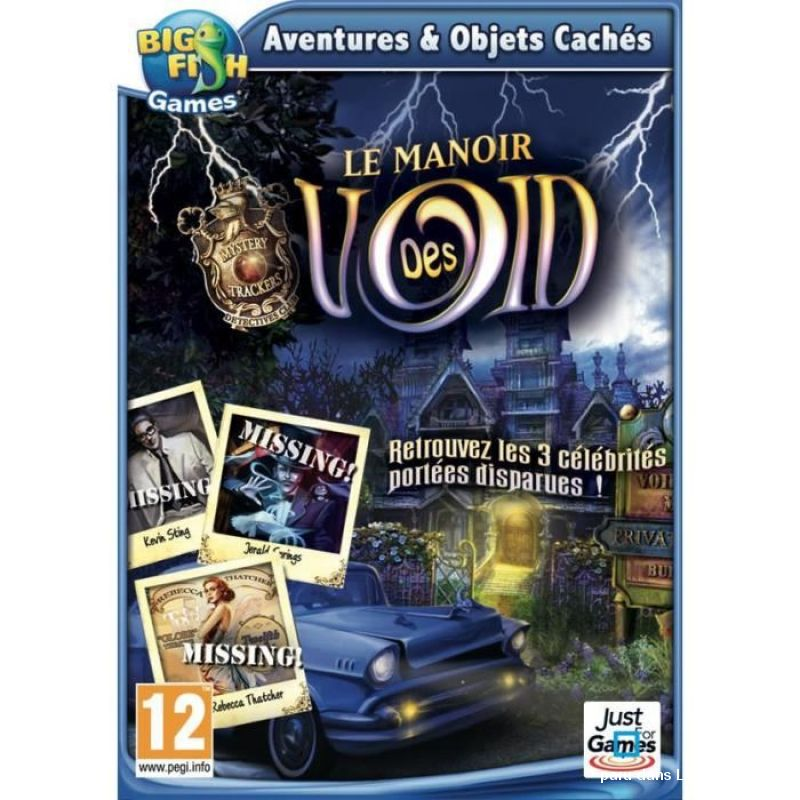 LOT DE 3 JEUX PC CD ROM COLLECTION BIG FISH